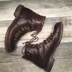 {Frye} lace up boot